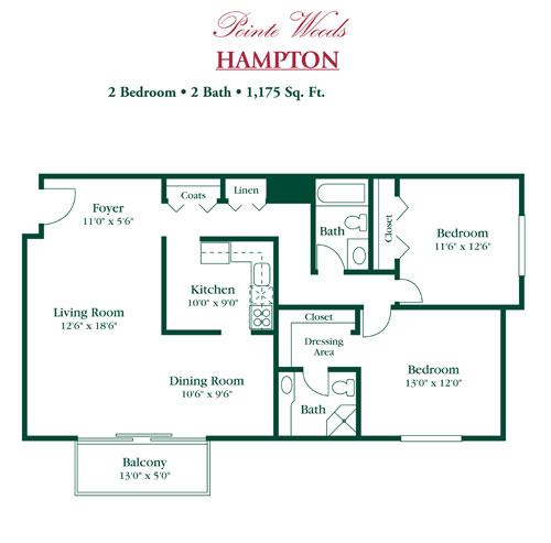 Hampton Woods Apartments: Eastland Village Apartments Harper Woods, MI Apartment